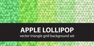 Triangle pattern set Apple Lollipop Royalty Free Stock Photos