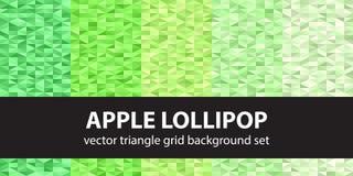 Triangle pattern set Apple Lollipop. Vector seamless geometric b Stock Photos