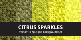Triangle pattern set Citrus Sparkles Stock Photo