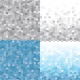 Triangle pattern set Frosty Morning . Vector seamless geometric backgrounds. eps 10 royalty free illustration