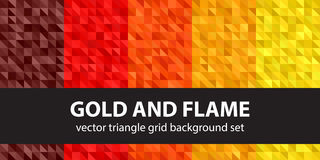 Free Triangle Pattern Set Gold And Flame Royalty Free Stock Images - 85419639