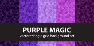 Triangle pattern set Purple Magic Royalty Free Stock Photos