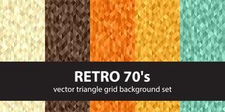 Triangle pattern set Retro 70`s Royalty Free Stock Photo