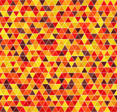 Triangle pattern. Vector seamless background. Autumn colors. Triangle pattern. Vector seamless background with maroon, red, orange, gold, yellow triangles on Royalty Free Stock Photo