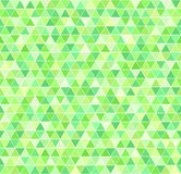 Triangle pattern. Vector seamless geometric background. Green triangles on white backdrop royalty free illustration