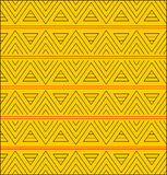 Triangle pattern. On a yellow backgrounds Royalty Free Stock Images