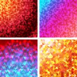 Triangle patterns Stock Photography