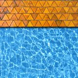 Triangle pavement with pool Stock Images