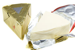 Triangle piece of cheese Royalty Free Stock Photo