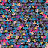 Triangle piece golden glitter seamless pattern. This illustration is design and drawing triangle abstract anxiety unknown decoration with golden glitter and pink Royalty Free Stock Images