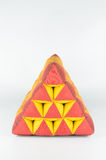 Triangle pillow Royalty Free Stock Photo
