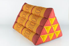 Triangle pillow from Thailand Stock Image