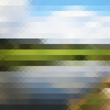 Triangle pixel lanscape Royalty Free Stock Photo