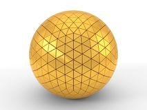 Free Triangle Plated Golden Sphere. 3d Illustration Royalty Free Stock Photography - 104147487