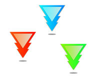 Triangle pointer Stock Photography