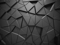 Triangle Poligon Pattern Metallic Wall Background Stock Images