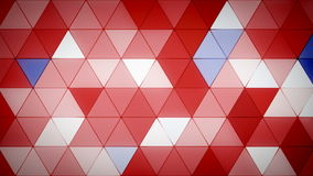 Triangle Polygon Loop 07 Patriotic. Seamless looping background of triangles stock video