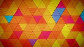 Triangle Polygon Loop 03 Summer. Seamless looping background of triangles stock video