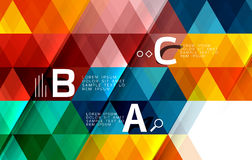 Triangle polygonal abstract background. Vector triangle polygonal abstract background Royalty Free Stock Image