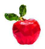 Triangle polygonal Apple illustration Stock Photography