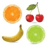 Triangle polygonal fruit illustration Stock Images