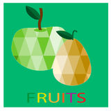 Triangle polygonal fruit illustrations Royalty Free Stock Photography