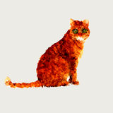 Triangle polygonal Red Cat illustration Stock Photography