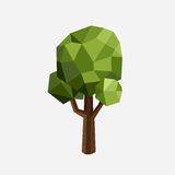 Triangle polygonal tree silhouette. Vector eco illustration.  green wood in a triangular style. Stock Photo