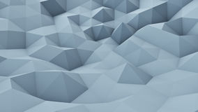 Triangle polygons vibrating chaotic 3D render. Triangle polygons vibrating chaotic. 3D render abstract geometrical modern background Stock Image