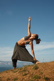 Triangle pose Stock Photography