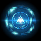 Triangle power digital button Stock Images