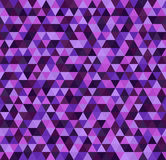 Triangle purple pattern. Seamless vector. Background with amethyst, lavender, plum, purple, violet triangles Royalty Free Stock Photos
