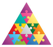 Triangle puzzle - 16 parts Royalty Free Stock Photos