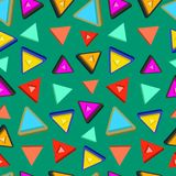 Triangle Random Pattern Seamless With More Style. And Warm Background Stock Images