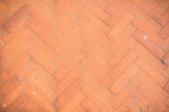 Triangle red brick wall background Royalty Free Stock Images