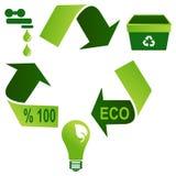 Triangle respectueuse de l'environnement d'environnement Photos stock