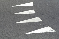Triangle road marking Royalty Free Stock Photo