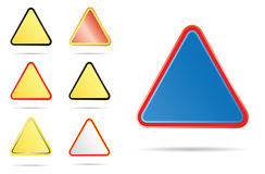 Triangle road signs Stock Photography
