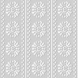 triangle ronde Dot Line de fleur de croix de courbe d'art du livre blanc 3D Photographie stock