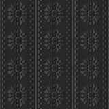 triangle ronde Dot Line de fleur de l'art 3D de croix de papier foncée de courbe Images stock
