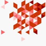 Triangle rouge de vecteur sur le fond gris Image stock