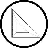 Triangle ruler Royalty Free Stock Images
