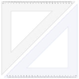 Triangle ruler Royalty Free Stock Photography