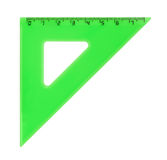 Triangle ruler Stock Images