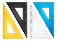 Triangle ruler set Royalty Free Stock Photos