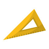 Triangle ruler utensil icon Stock Images