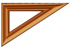 Triangle ruler Stock Photo
