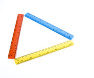 Triangle in rulers Royalty Free Stock Photo