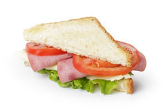 Triangle sandwich with ham, cheese and vegetables Stock Image