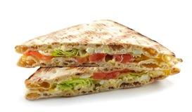 Triangle sandwich with salmon Stock Photos